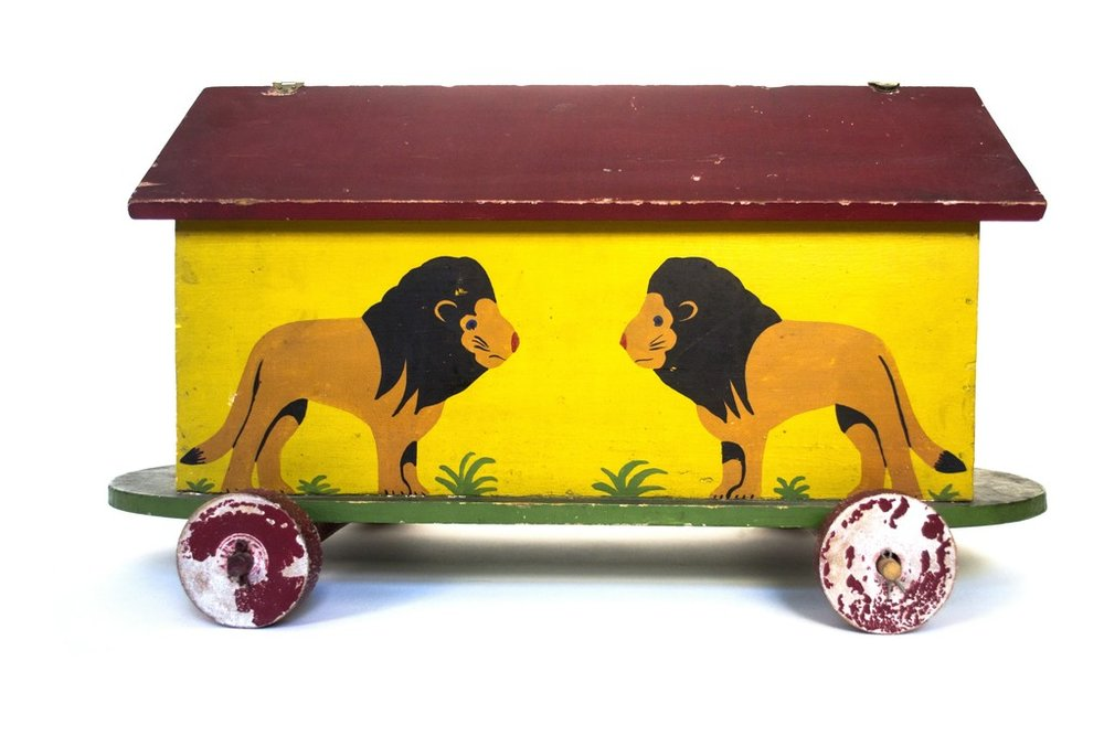 Noah's Ark with Animals Unknown USA, 1920s hand-painted wood N/A Measurements Notes: could be Tubby Brown? But Lora thinks it's too early to be him refinishing/new hinges: $100 LIST PRICE: $725 DESIGNER DISCOUNT PRICE: $616.25 LEAD TIME: 3-5 Days Shipping & Handling QUANTITY IN STOCK: 1 ONLINE PLATFORMS: Artsy