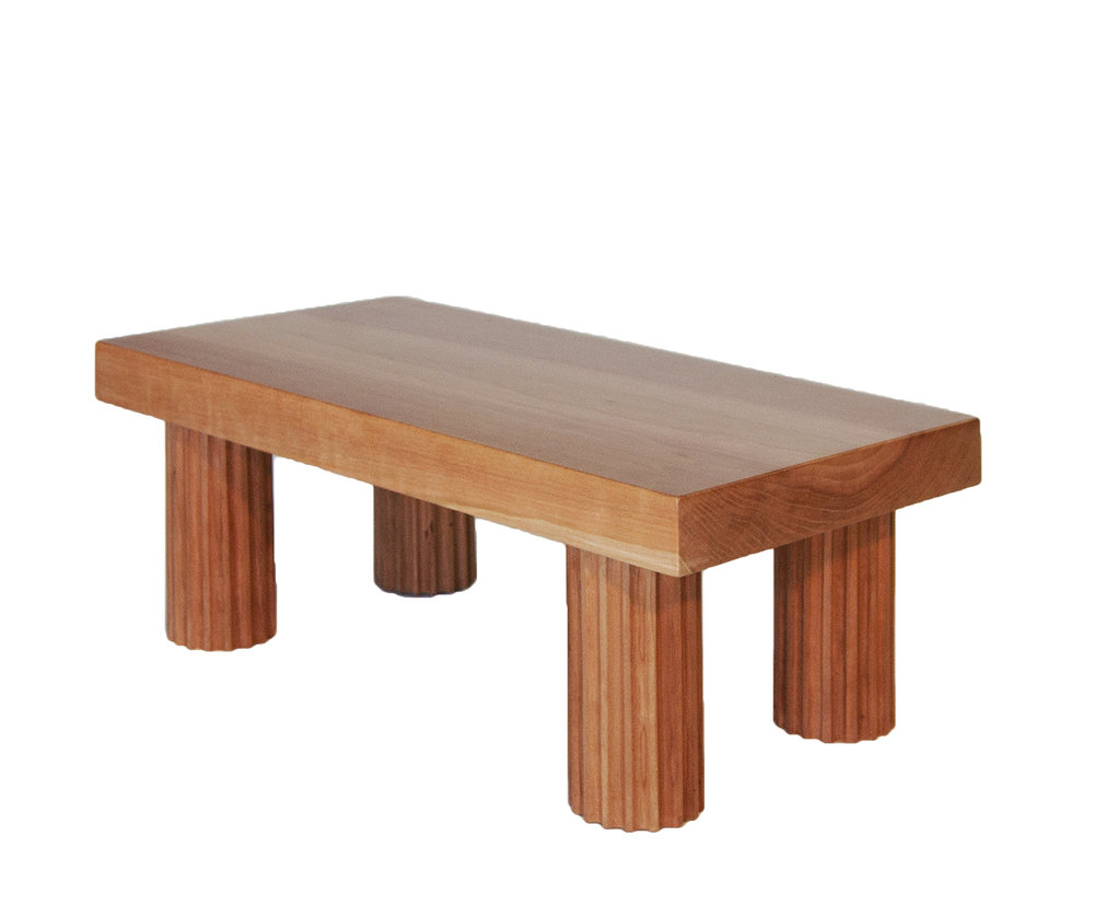 Jolly Corner Bench (vs 1)     AQQ Design    , Matthew Sullivan      Exclusive collaboration between kM and AQQ      American      contemporary     Wax on Maple     W 22 in H 11 in      LIST PRICE: $ 750     DESIGNER DISCOUNT PRICE: $637.50    LEAD TIME: 12-14 Weeks    QUANTITY IN STOCK: 1    ONLINE PLATFORMS: