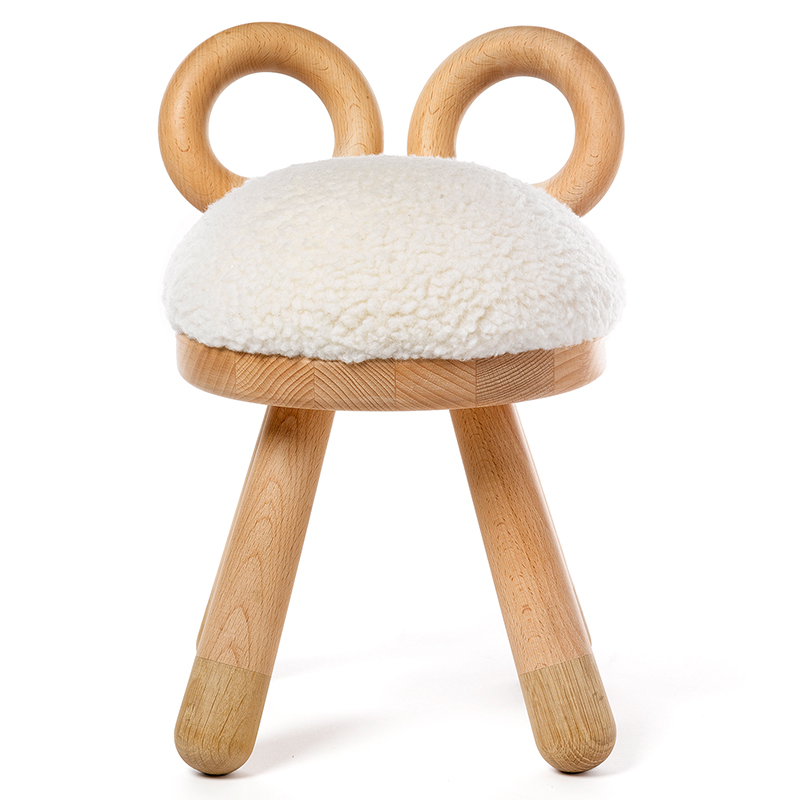 Sheep Chair     Takeshi Sawada (Japan)      Elements Optimal      Netherlands      2015      Oak, walnut, and faux fur      H 15.75 in, W 10.6 in, D 11 in (Seat: H 12.6 in)      notes: have 2 additional, but one had a loose leg and one had a broken horn      LIST PRICE: $385    DESIGNER DISCOUNT PRICE: $327.25    LEAD TIME: 3-5 Days Shipping & Handling    QUANTITY IN STOCK: 3    ONLINE PLATFORMS: kM Web, 1st Dibs, Artsy