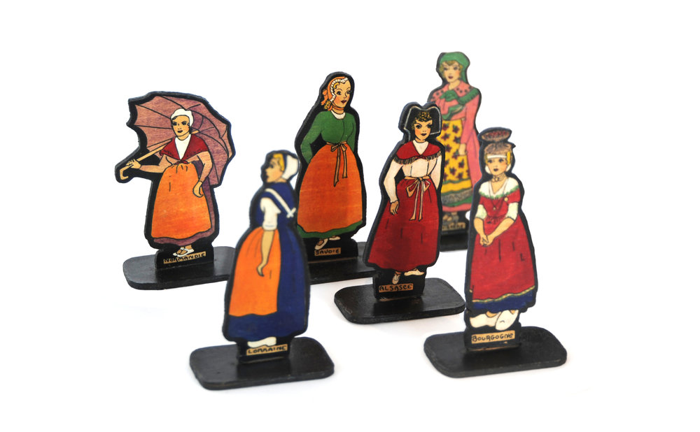 French Working Women Dolls (set of 6) Unknown Designer Unknown Origin Unknown Material Unknown Measurements LIST PRICE: $150 DESIGNER DISCOUNT PRICE: $127.50 LEAD TIME:  QUANTITY IN STOCK:  ONLINE PLATFORMS: