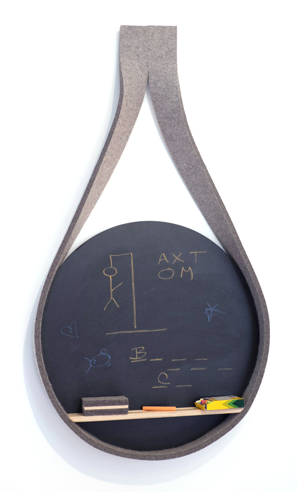 Write On Chalk Board Mike Garman Garman Furniture Houston, TX 2015 Blackboard, felt, Baltic Birch H 43 in, W 22.5 in, D 3 in LIST PRICE: $350 DESIGNER DISCOUNT PRICE: $297.50 LEAD TIME: 3-5 Days Shipping & Handling QUANTITY IN STOCK: 3 ONLINE PLATFORMS: kM Web, Artsy