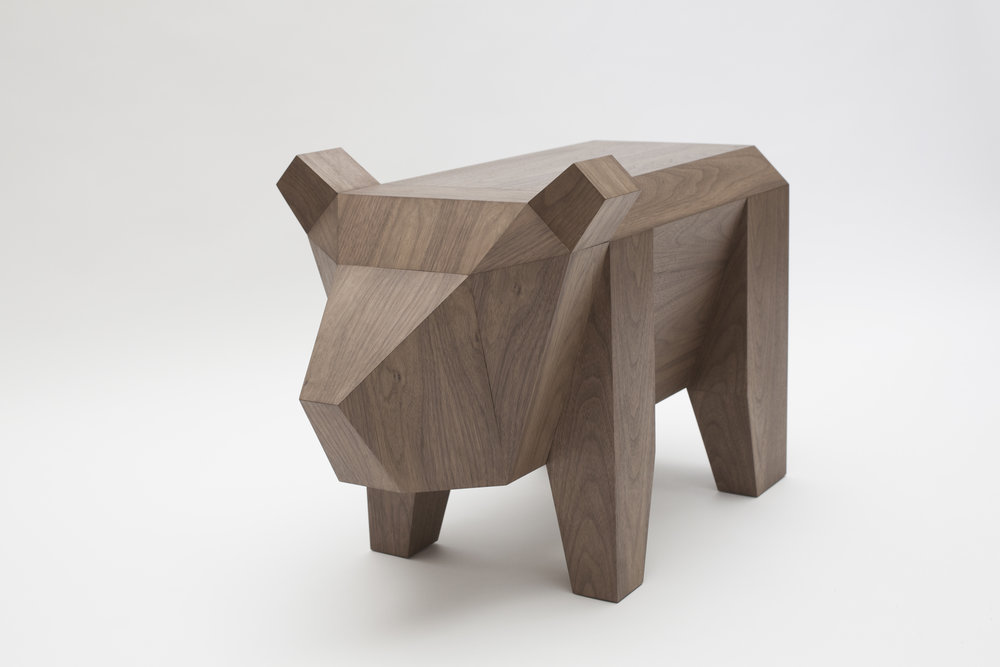 Bear Table     Alexander Kanygin     Russia    2015     MDF, Walnut Veneer      H 18.25 in, W 13.75 in, L 31 in     LIST PRICE:  $1,600     DESIGNER DISCOUNT PRICE: $1,360    LEAD TIME: 12-14 Weeks    QUANTITY IN STOCK: 1    ONLINE PLATFORMS: kM Web, Artsy