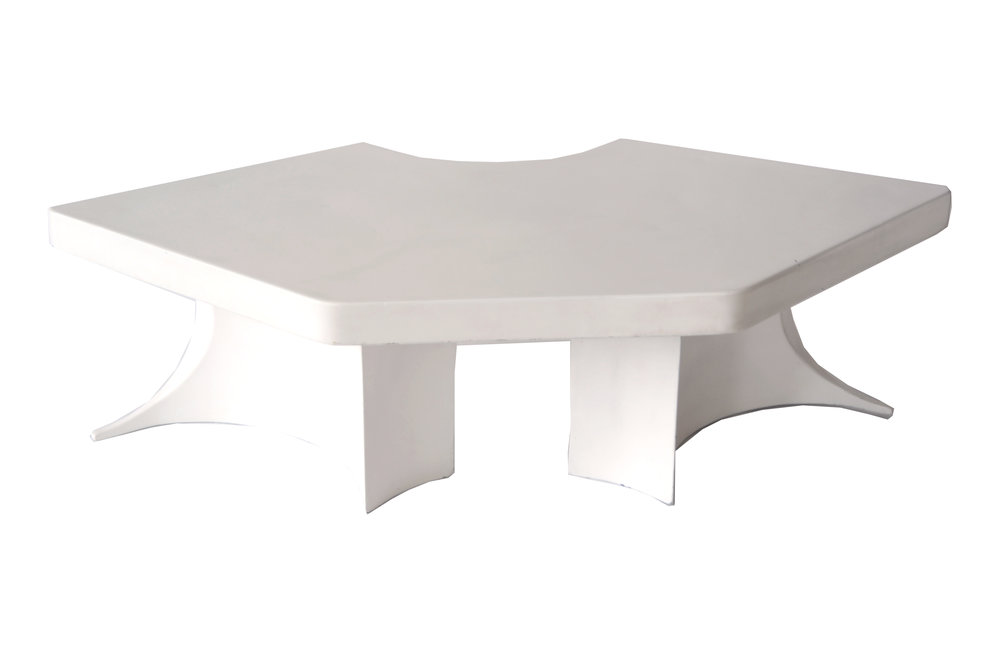 Play Table Arturo Pani Unknown Production Mexico 1970s fiberglass H 17 in, W 53 in, D 24.25 in LIST PRICE: $2,800 DESIGNER DISCOUNT PRICE: $2,380 LEAD TIME: 3-5 Shipping & handling QUANTITY IN STOCK: 1 ONLINE PLATFORMS: kM Web, Artsy, 1st Dibs
