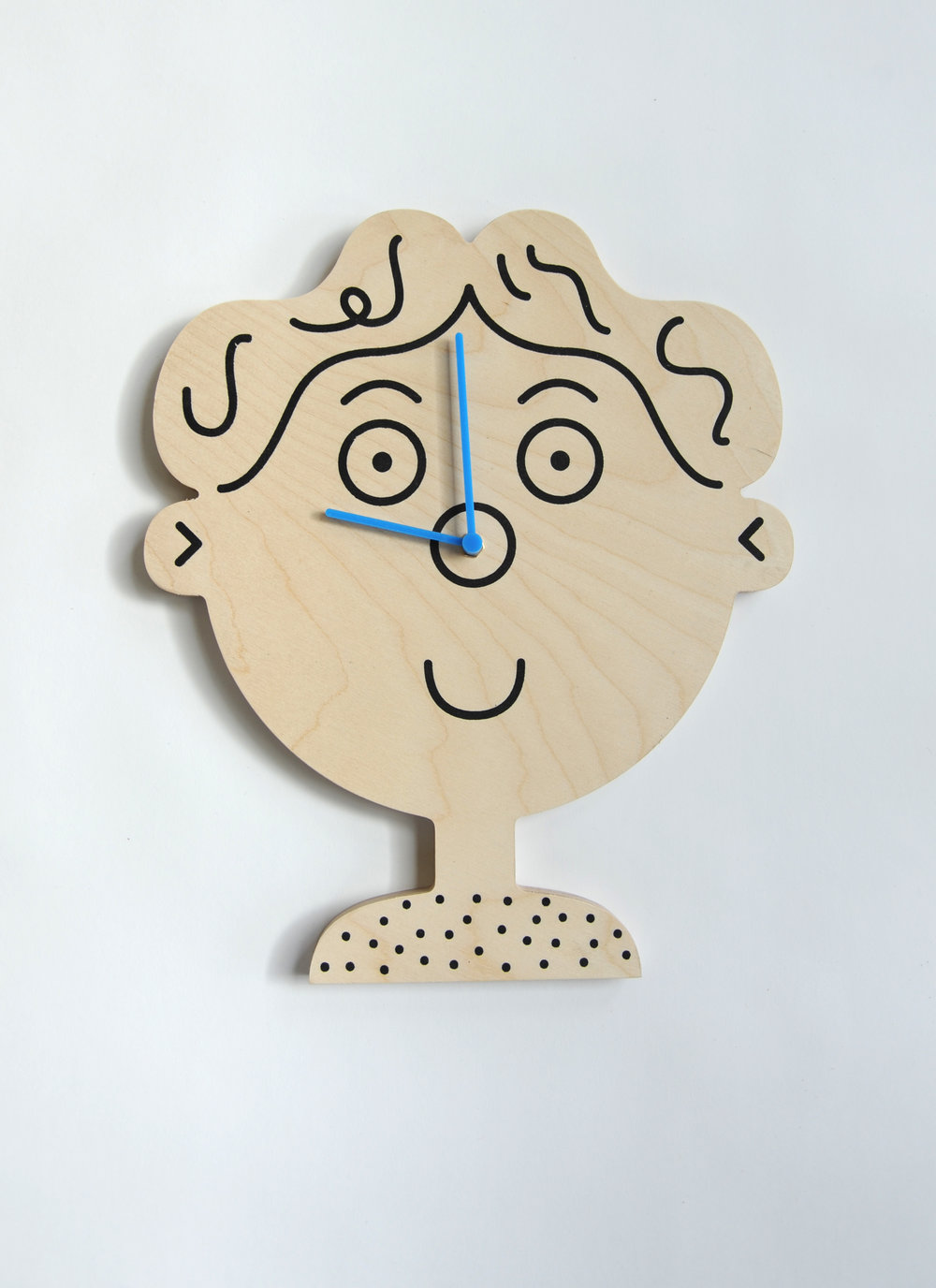 Boy Clock Lawrence Slater Unknown Production UK Contemporary Product Birch Plywood H 15.75 in, W 12 in, D 2 in LIST PRICE: $120 DESIGNER DISCOUNT PRICE: $ LEAD TIME: 3-5 Shipping & handling QUANTITY IN STOCK: 2 ONLINE PLATFORMS: kM Web, Artsy