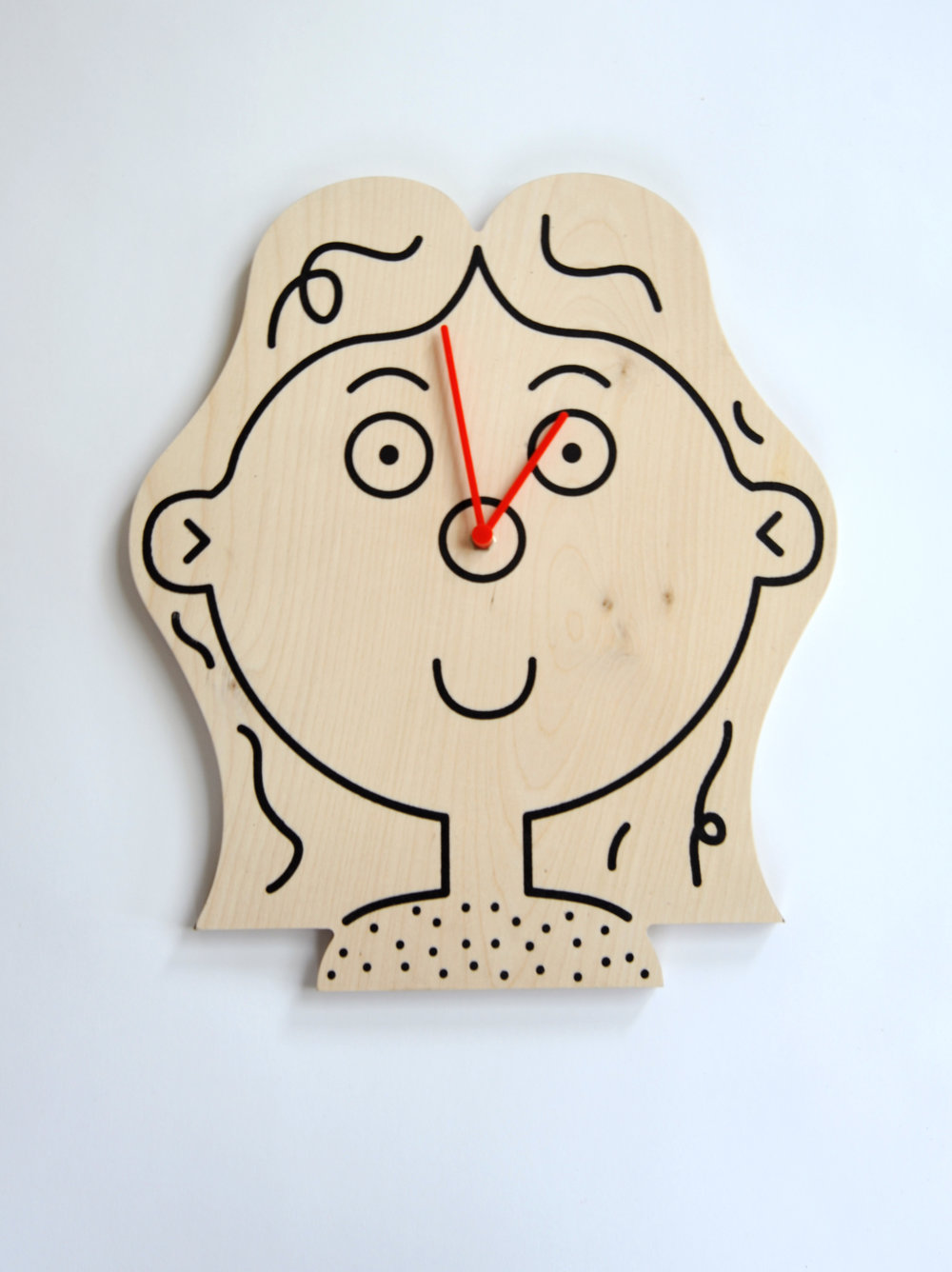 Girl Clock Lawrence Slater Unknown Production UK Contemporary Product Birch Plywood H 15.75 in, W 12 in, D 2 in LIST PRICE: $120 DESIGNER DISCOUNT PRICE: $ LEAD TIME: 3-5 Shipping & handling QUANTITY IN STOCK: 2 ONLINE PLATFORMS: kM Web, Artsy