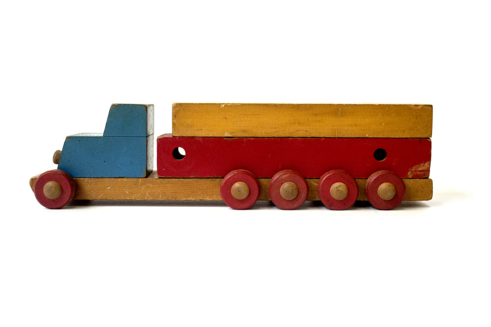 Folk Art Stack Truck Unknown Designer Unknown Production USA Unknown Date Wood H 3.5 in, W 5 in, L 13.5 in LIST PRICE: Cube $185 DESIGNER DISCOUNT PRICE: $157.25 LEAD TIME: 3-5 Days QUANTITY IN STOCK: 0 (sold) ONLINE PLATFORMS: