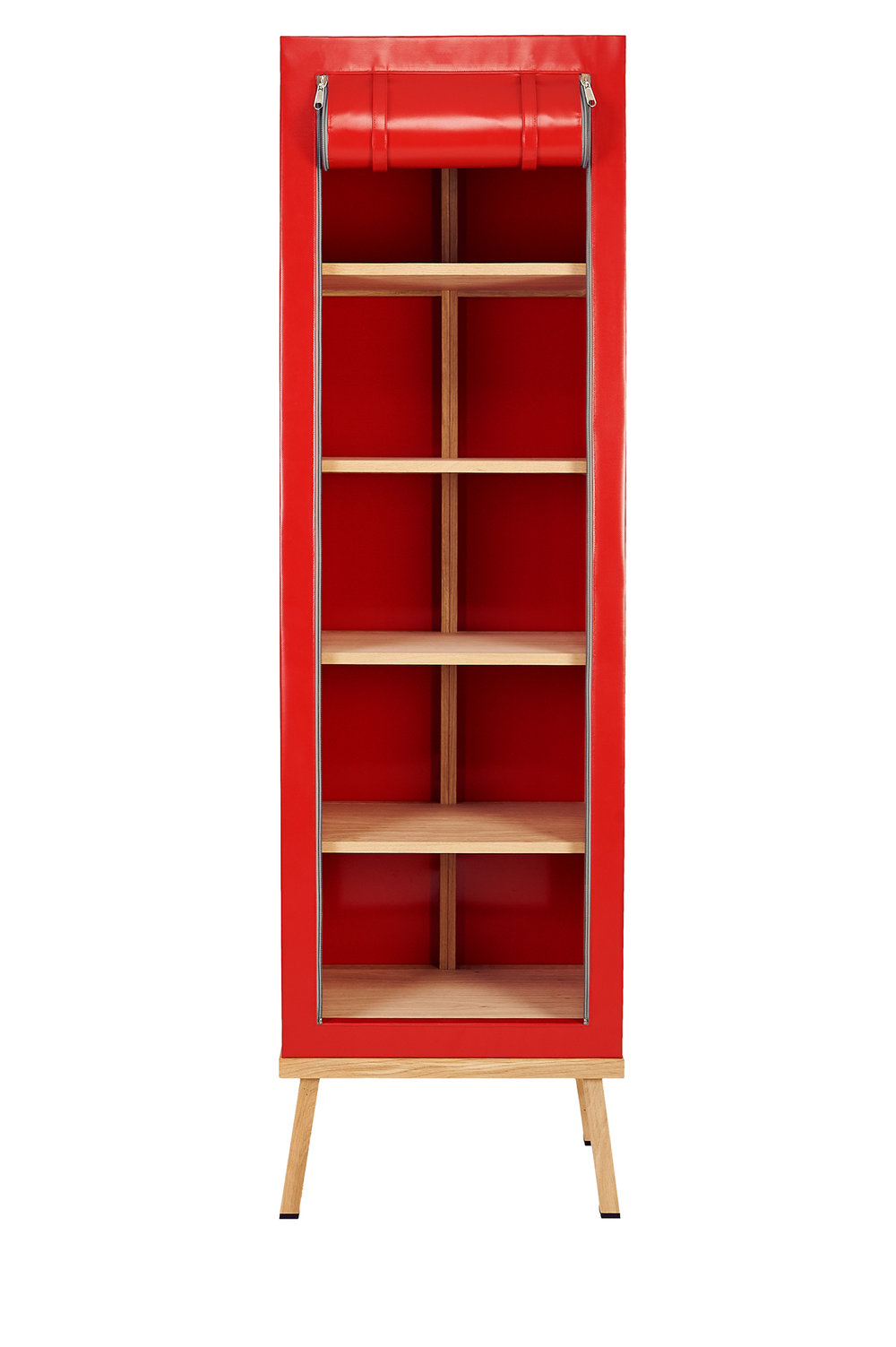 Truecolors Cabinet Visser + Meijwaard Netherlands 2015 PVC cloth with oak wood frame H 78.75 in, W 15.75 in, D 23.75 in LIST PRICE: Cube $5,125 DESIGNER DISCOUNT PRICE: $4,356.25 LEAD TIME: 8-10 weeks QUANTITY IN STOCK: 0 ONLINE PLATFORMS: kM Web, Artsy, 1st Dibs