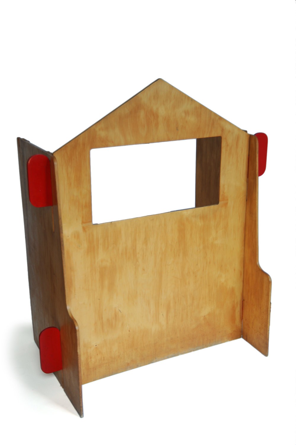 Ado Puppet Theater Ko Verzuu/Ado ADO Netherlands 1950s-1960s veneered wood H 49.5 W 43.5 D 20.5 (side: 39.5) LIST PRICE: Cube $2,100 DESIGNER DISCOUNT PRICE: $1,785 LEAD TIME:3-5 Days Shipping & Handling QUANTITY IN STOCK: 1 ONLINE PLATFORMS: kM Web, Artsy, 1st Dibs