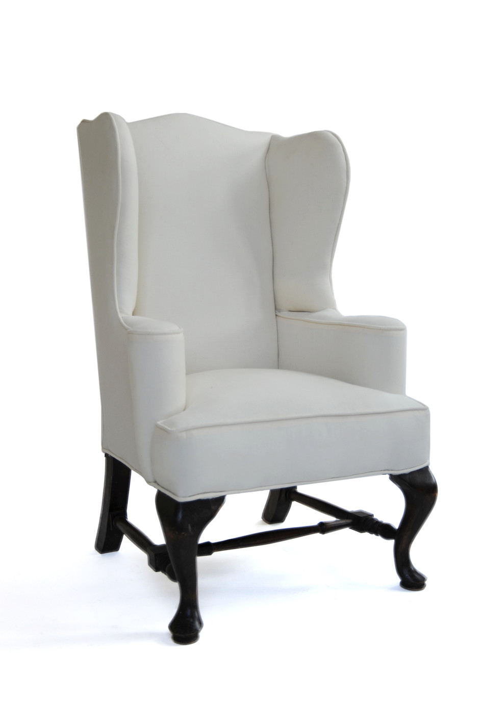 Wingback Chair Unknown Designer Unknown Production USA 1920s recovered in muslin chair: H 29.5 in, W 15.5 in, D 14.5 in; Seat: Seat H 12 in LIST PRICE: Cube $1,650 DESIGNER DISCOUNT PRICE: $1,402.50 LEAD TIME:3-5 Days Shipping & Handling QUANTITY IN STOCK: 1 ONLINE PLATFORMS: kM Web, Artsy, 1st Dibs