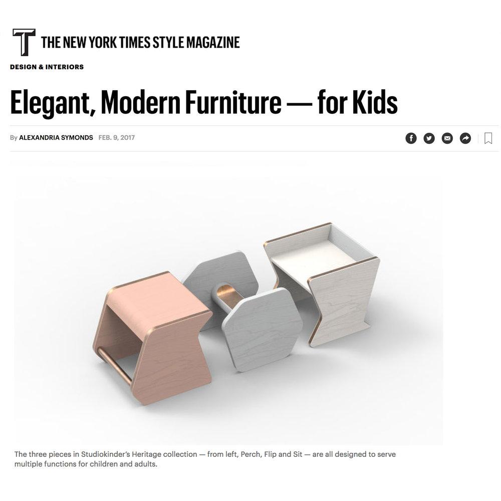 T Style Magazine, Elegant, Modern Furniture — for Kids, 2017