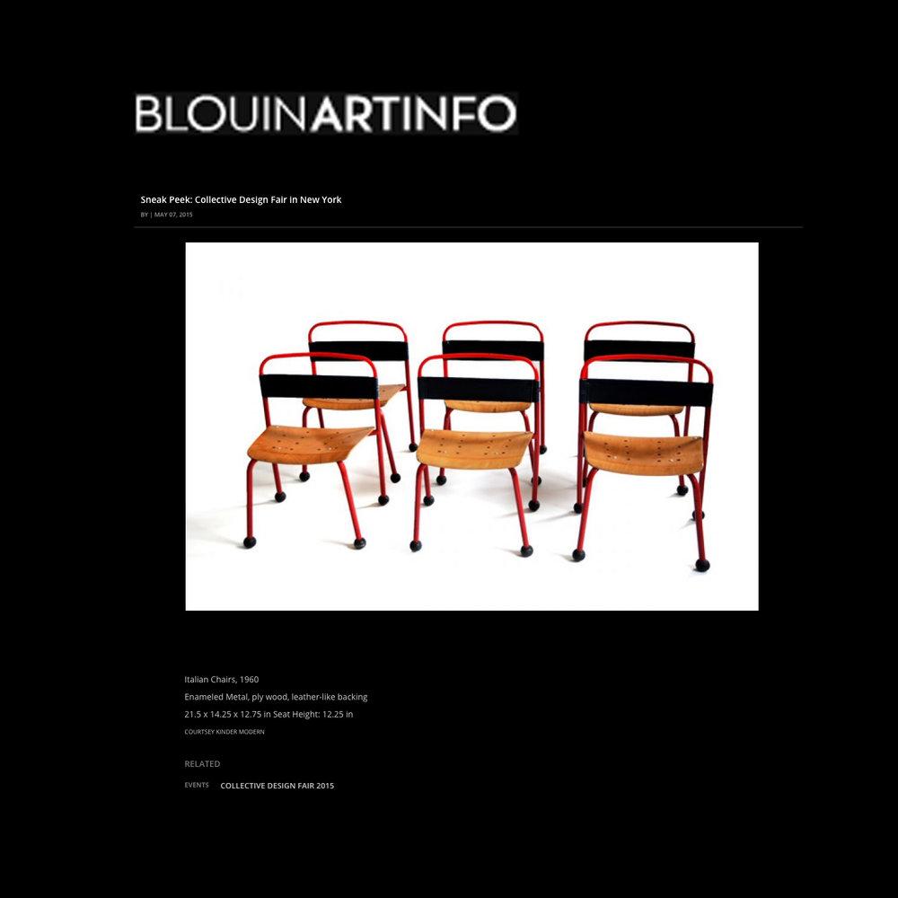 Blouin Art Info, 2015