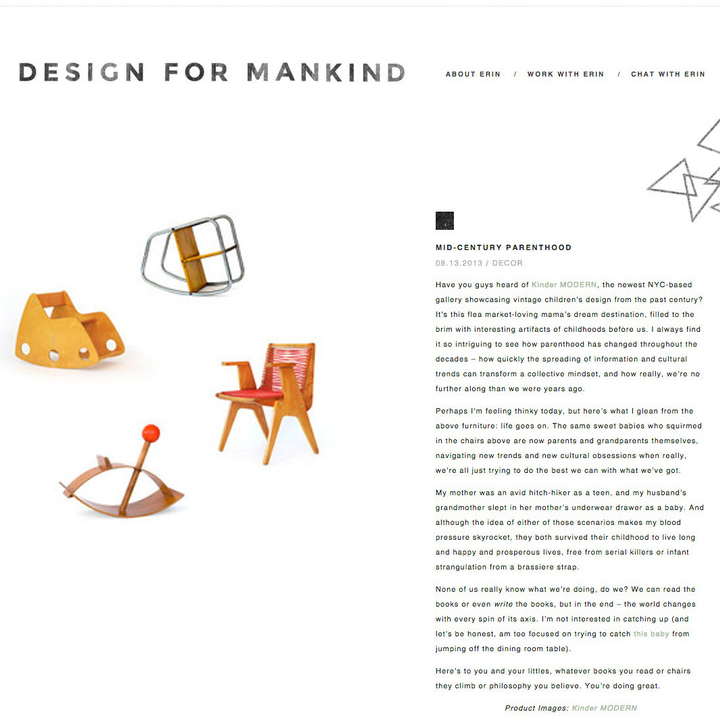 Design for Mankind, 2013