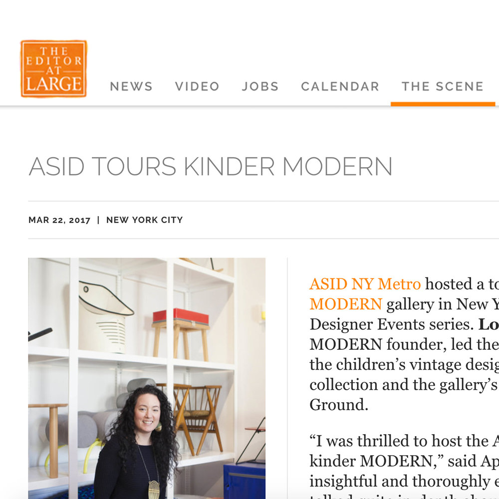 The Editor at Large, ASID Tours Kinder Modern, 2017