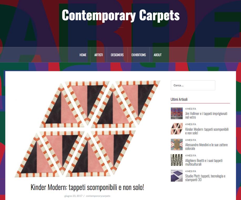 Kinder MODERN: tappeti scomponibili e non solo!