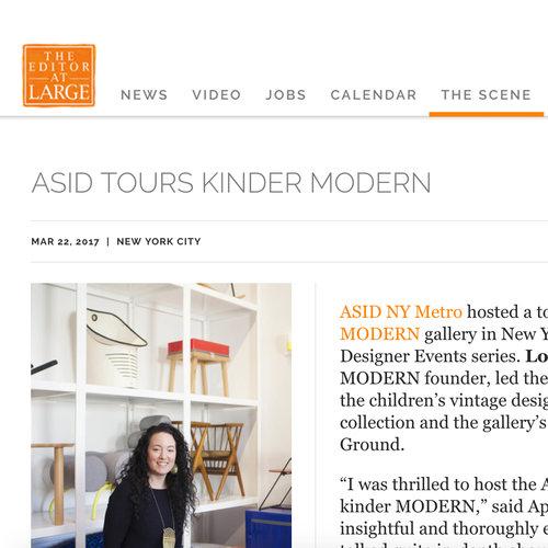 ASID Tours kinder MODERN