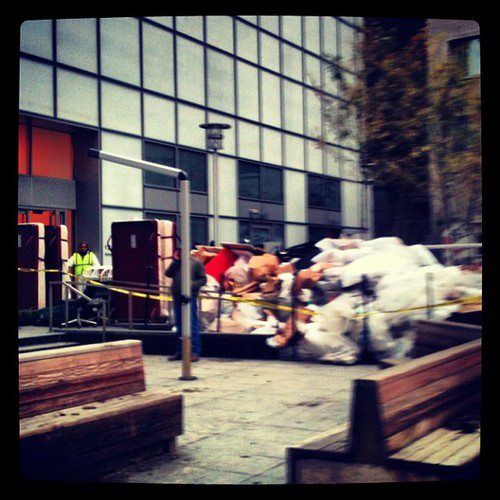 W Hotel cleans out basement.