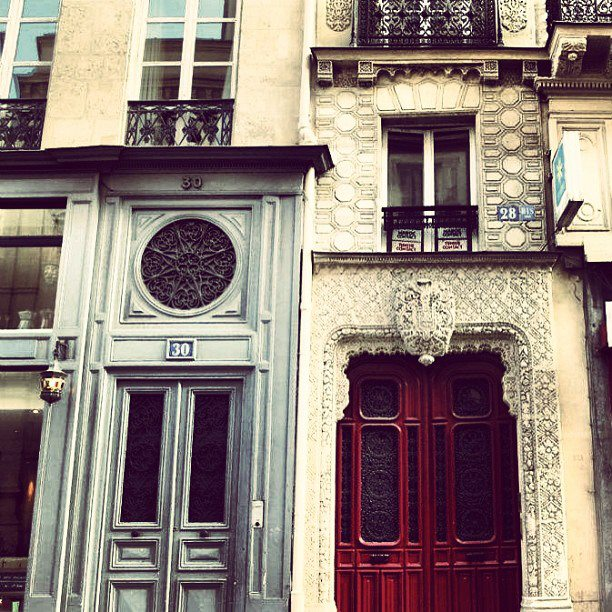 Doors in the Opera District in Paris. (2012)