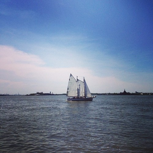 Sailboat, NY Harbor, NYC, by Kari Hansbarger