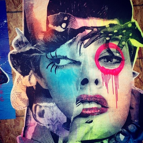 DAIN street art, TriBeCa, NYC, Photo by Kari Hansbarger