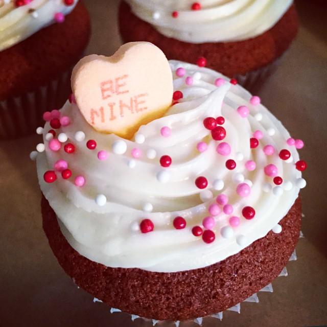 The mini red velvet cupcakes here! #bemine #valentine