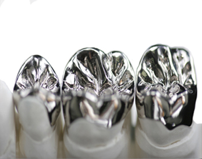 Photo of metal crowns.