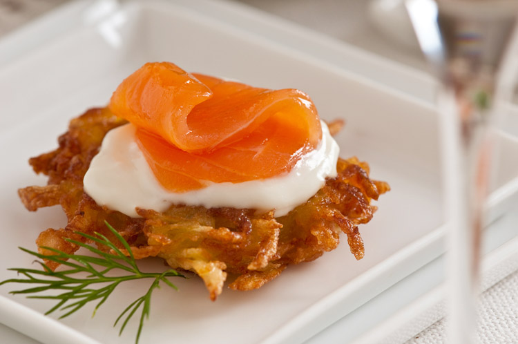 Willy Krauch Smoked Salmon latke