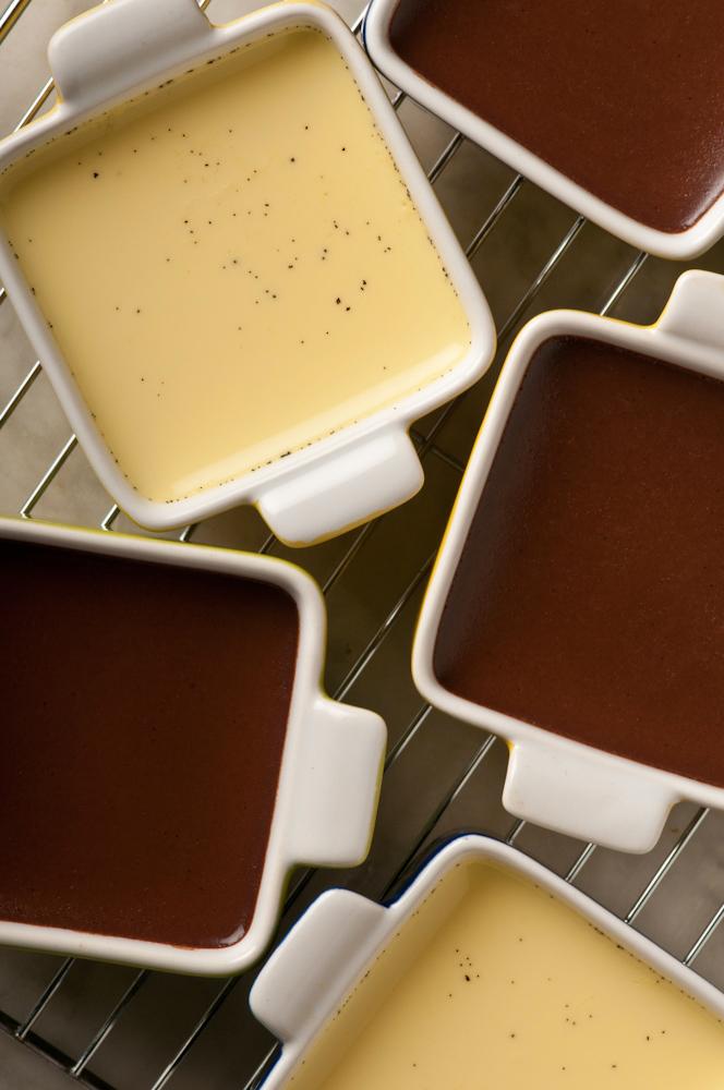 Chocolate and Vanilla Bean pot de creme