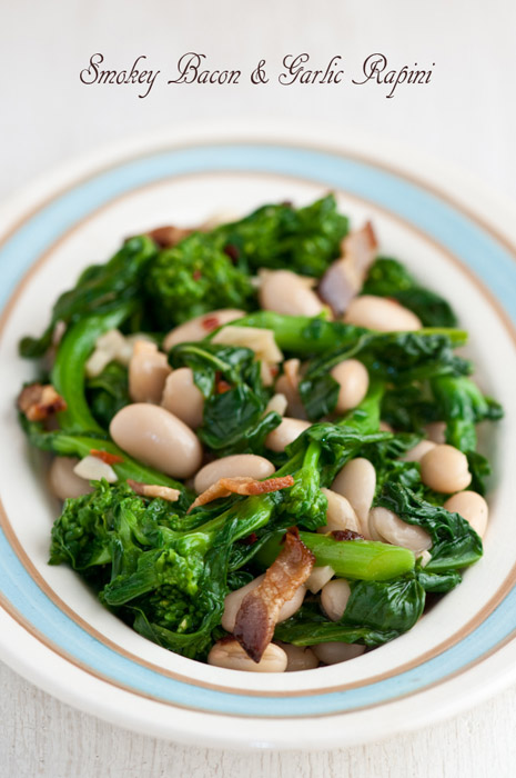 oval plate broccoli rabe