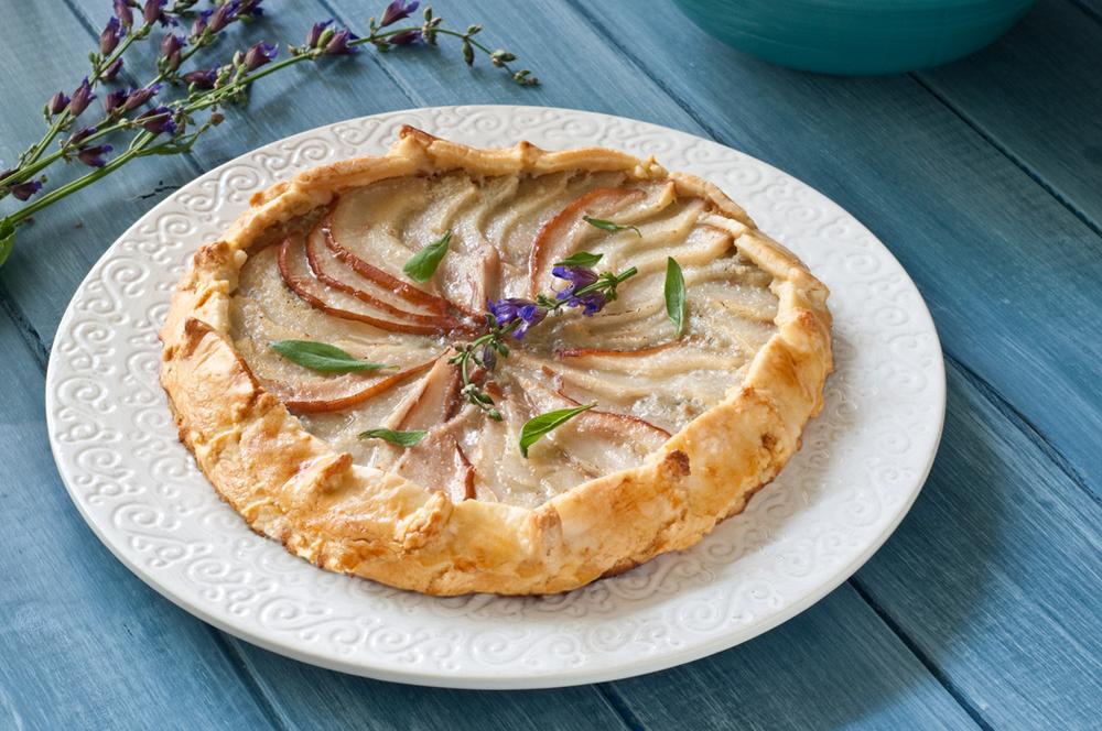 savory pear blue cheese tart