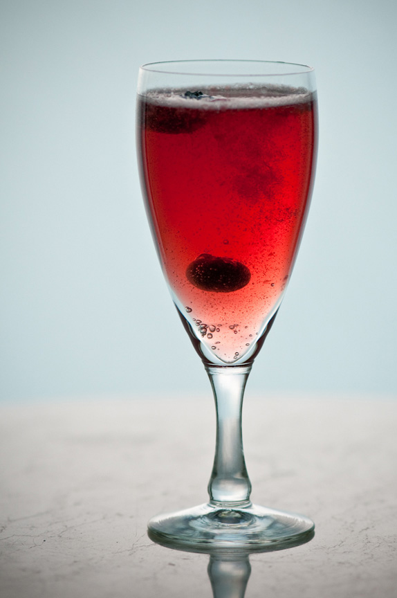 blueberry shrub and sparkling cider