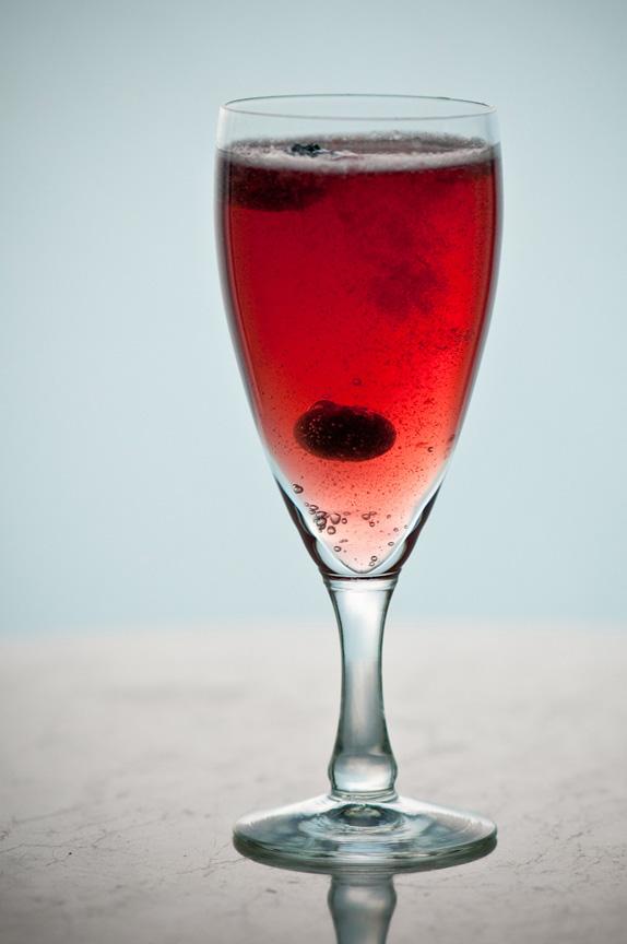 blueberry shrub and sparkling cider