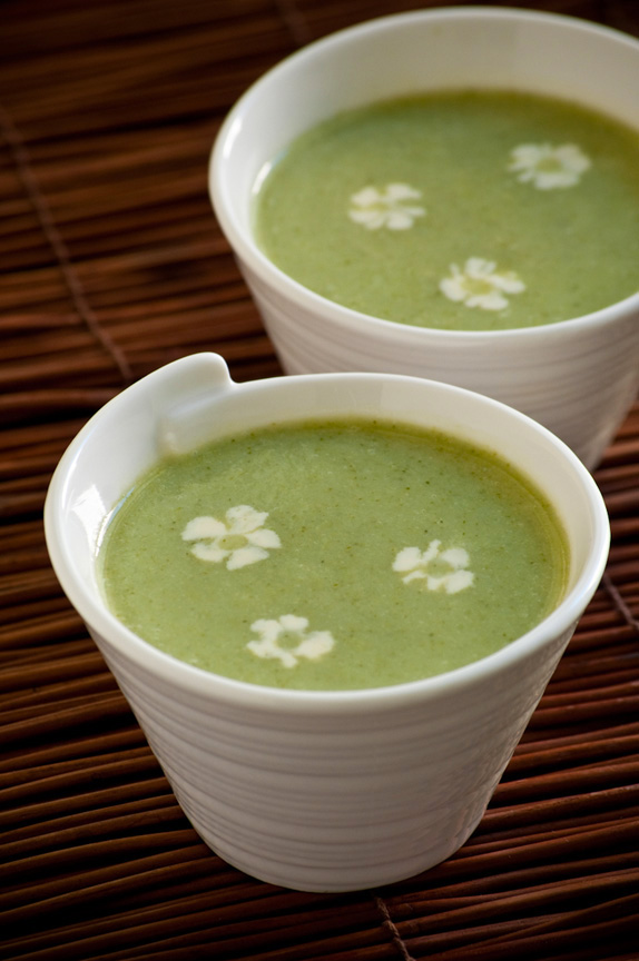 ginger broccoli coconut soup
