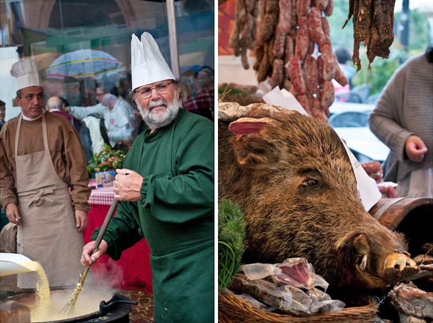 Alba's medieval fair:Polenta & Wild Boar