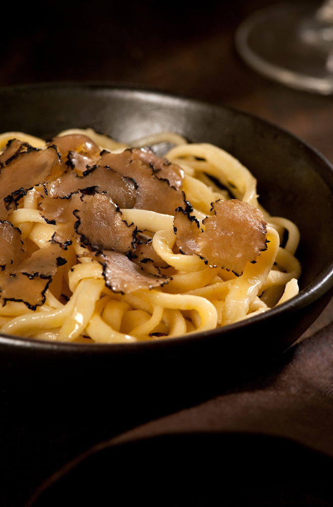 tajarin pasta black truffles