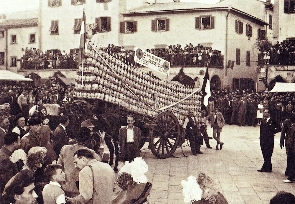 Greve in Chianti- Piazza Matteotti Chianti festival in the 1930's Photographer- Unknown