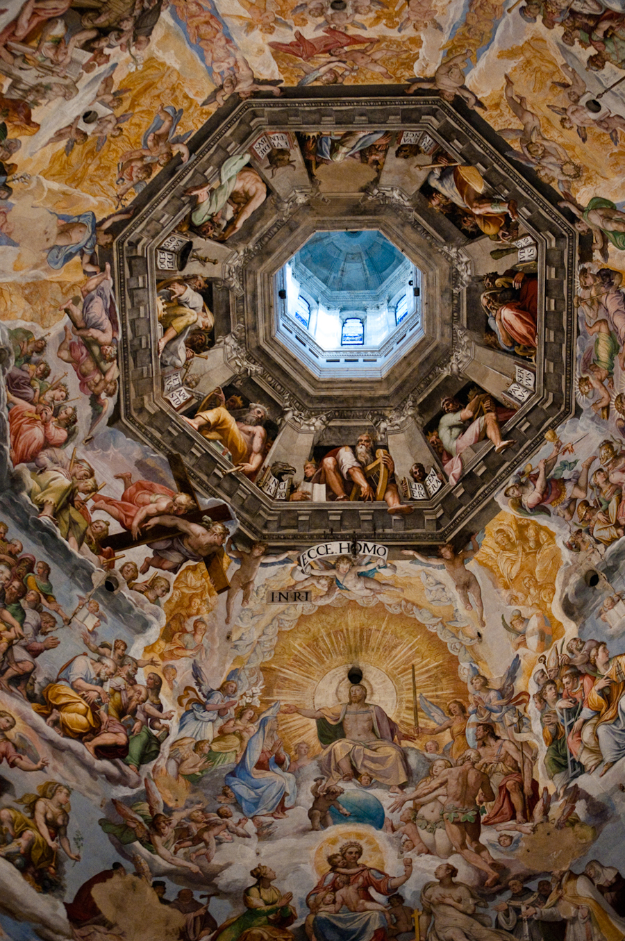 This fresco on the dome's interior depicts the Last Judgment, completed in 1579.