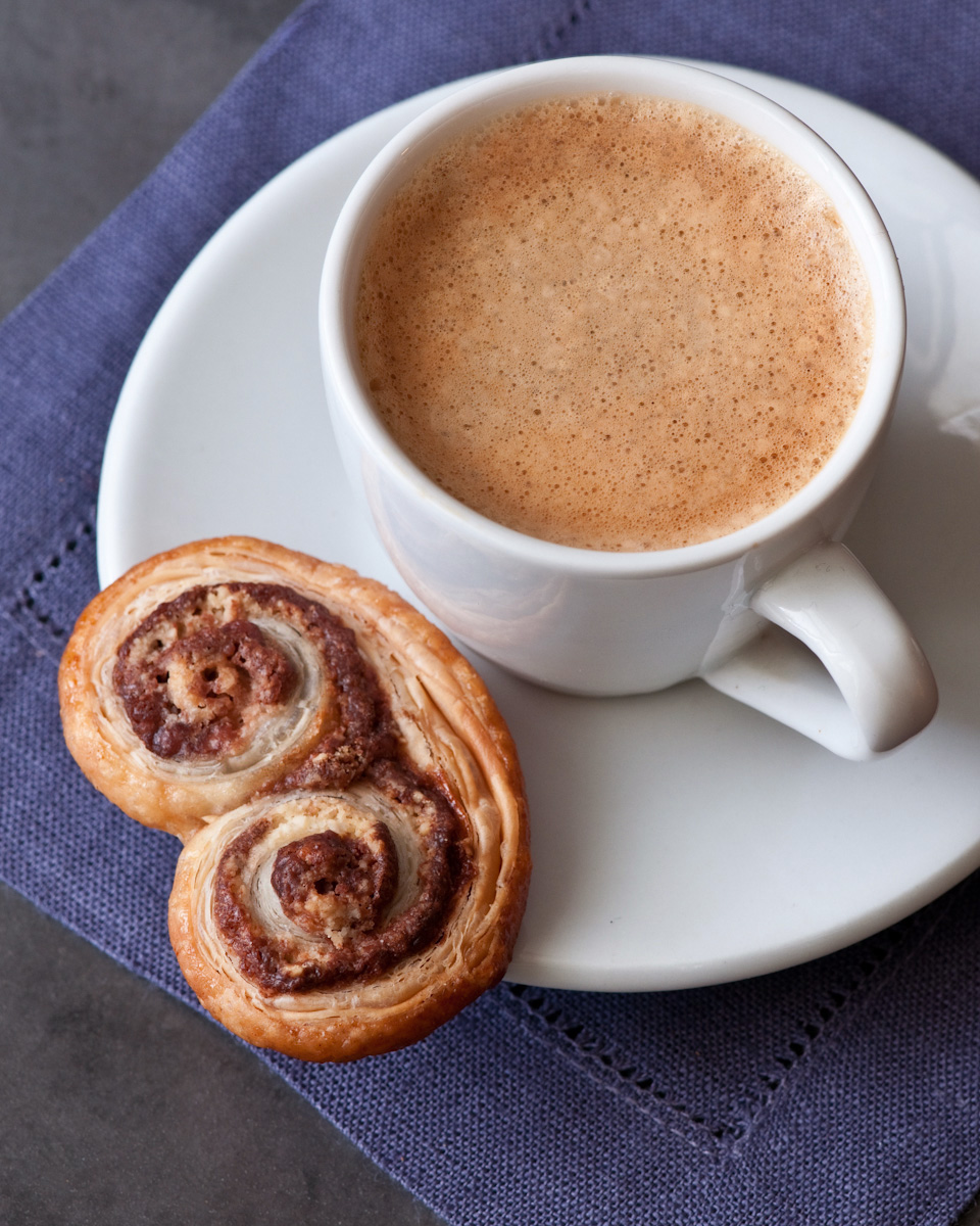 espresso cup and nutella cookie
