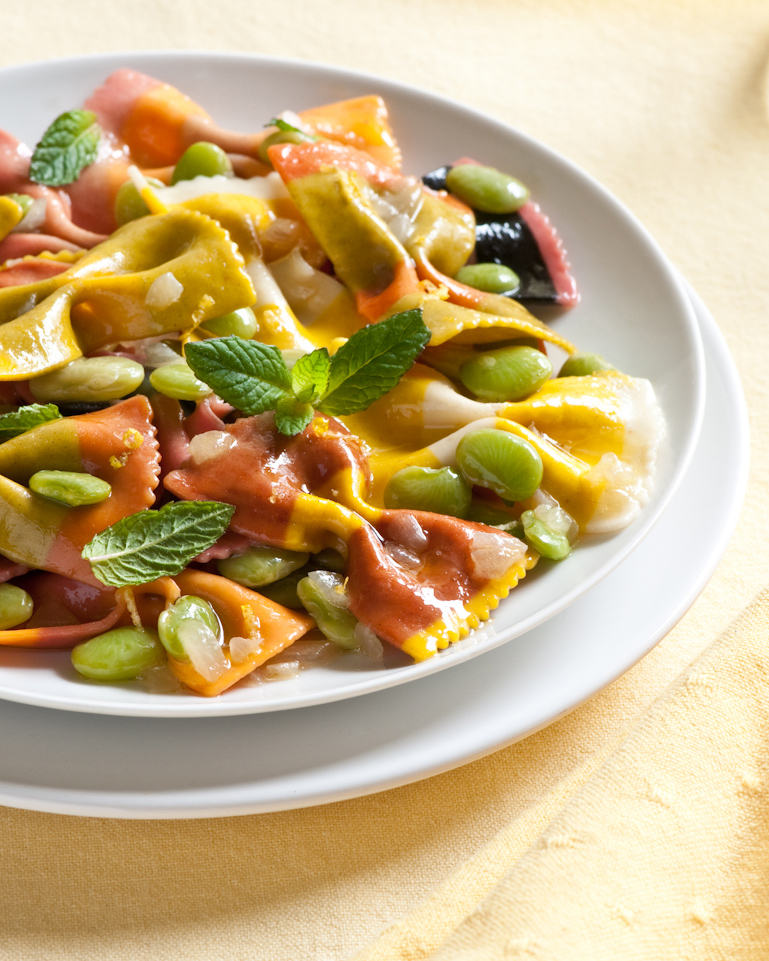 farfalle and lima beans