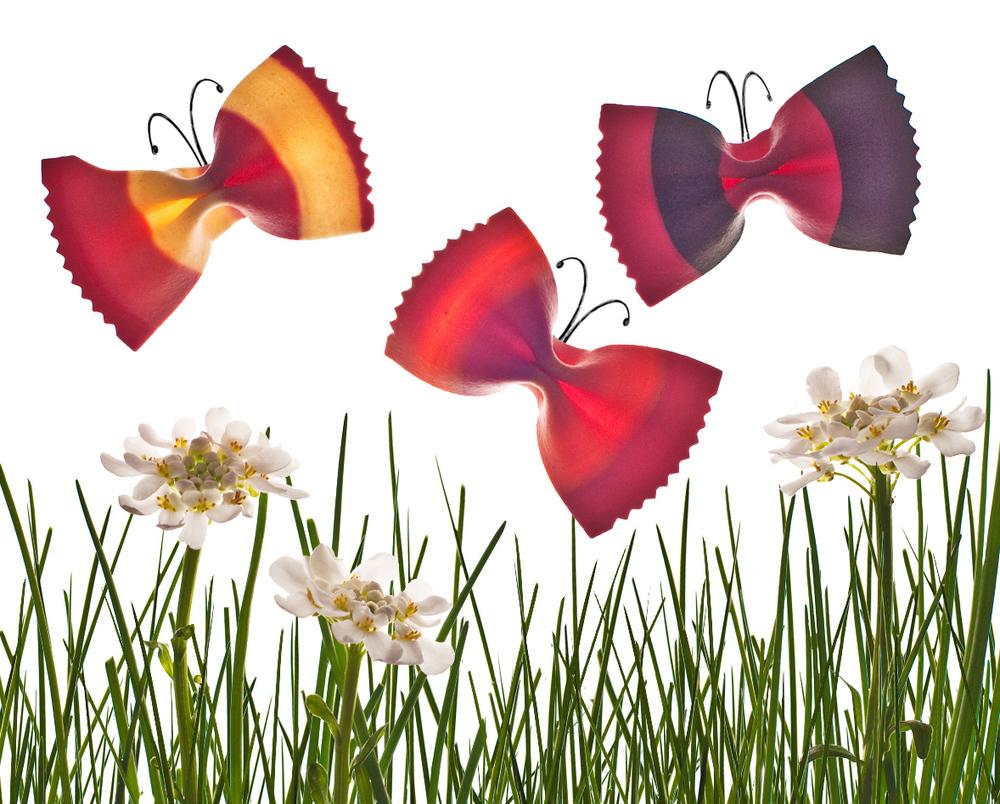 rainbow farfalle