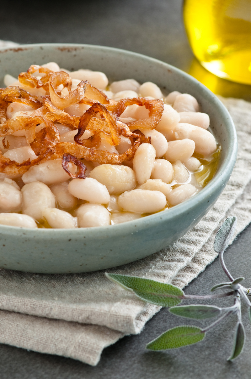tuscan beans with sage and shallots
