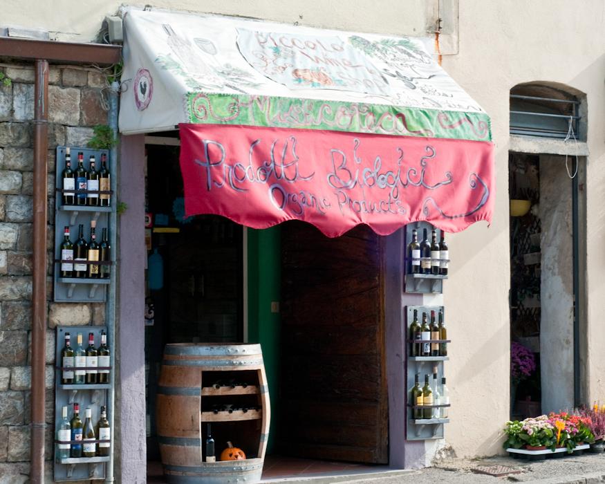 The entrance to Misti's Enoteca, Panzano in Chianti.