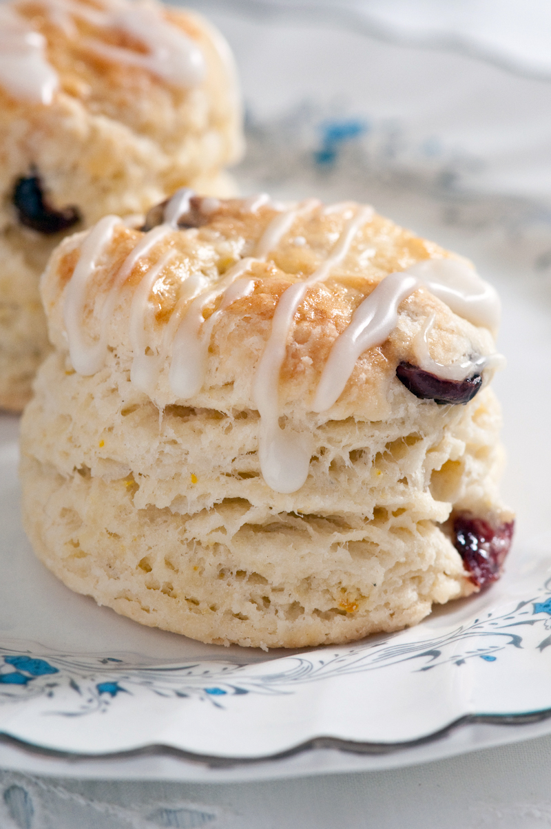clementine scones with Grand Marnier glaze