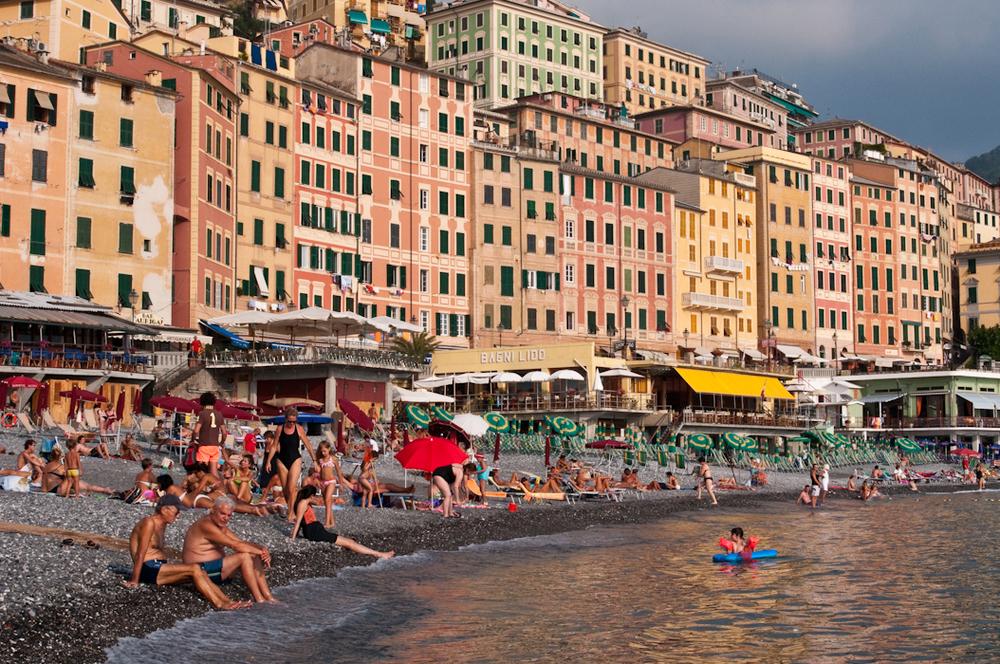 Camogli's beach