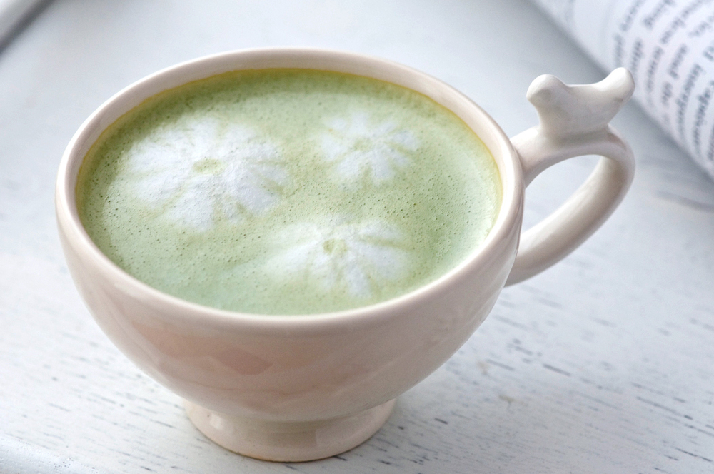 green tea coconut latte
