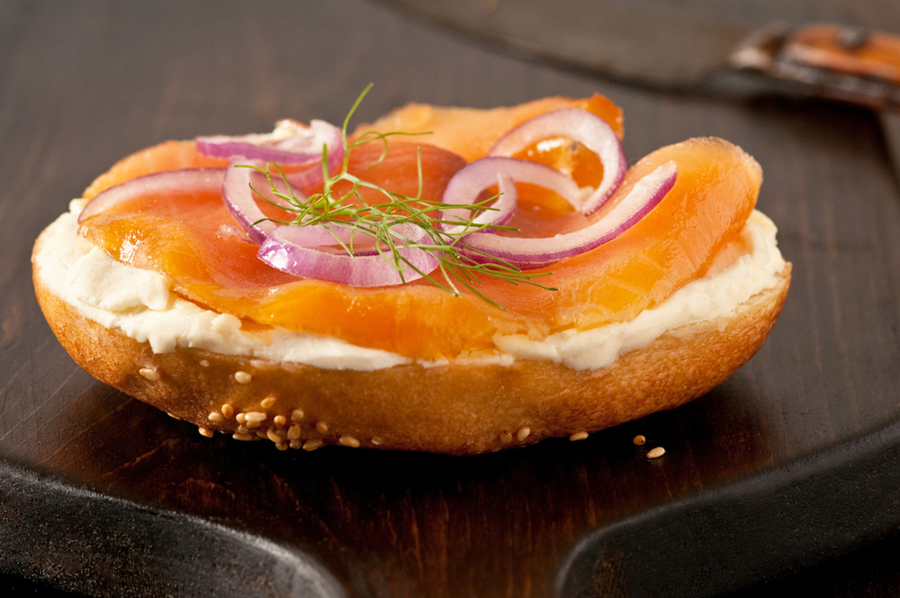 bagel cream cheese and lox