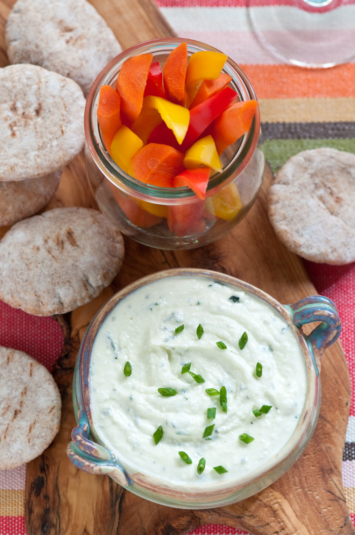 feta cheese dip with veggies