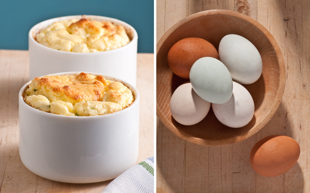 twice baked sheese souffle with farmers market fresh eggs