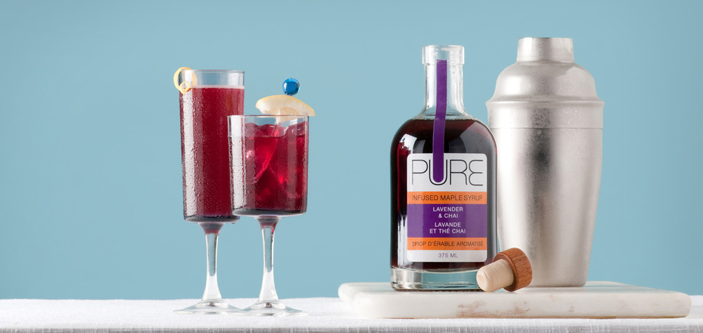 Blueberry maple cocktails