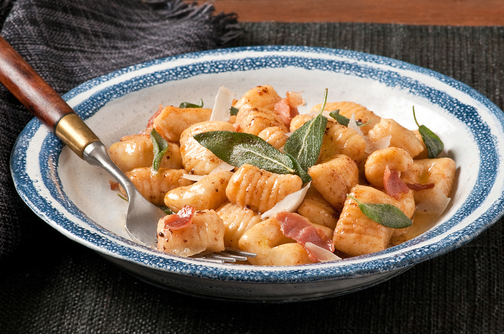 instant mashed potato gnocchi with sage butter
