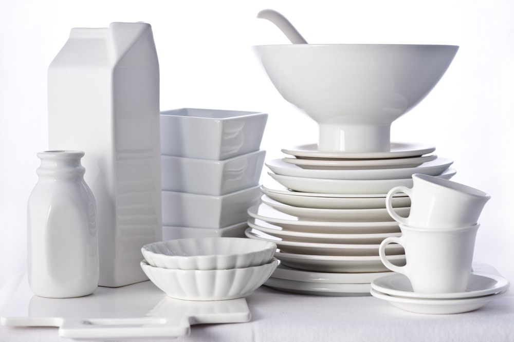 food styling props white tableware